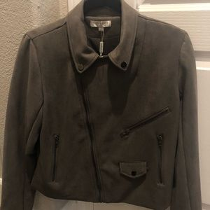 Moto Faux Suede Jacket by Solitaire, Medium, NWOT